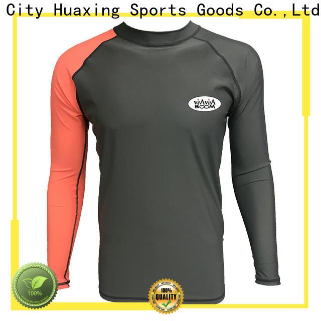 Huaxing high quality girls rash guard wholesale for canoe polo