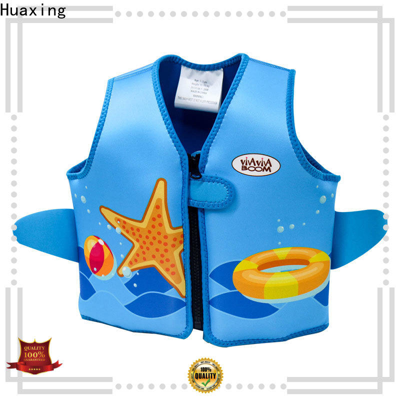 Huaxing resonable price kids swimming life jacket bulk production for swimming