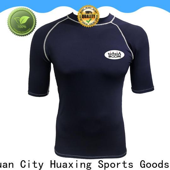 Huaxing printed long sleeve rash guard producer for windsurfing