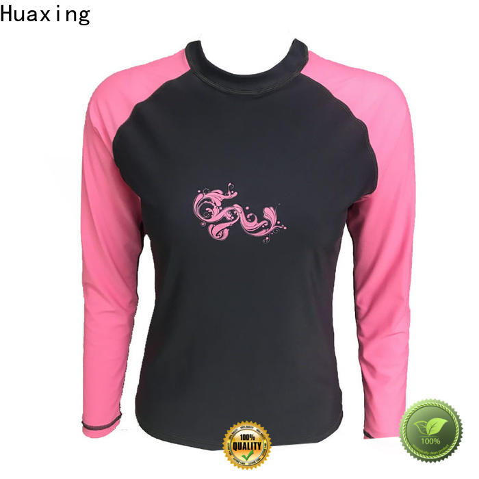 Huaxing fit rash guard from manufacturer for stand up paddle surfing