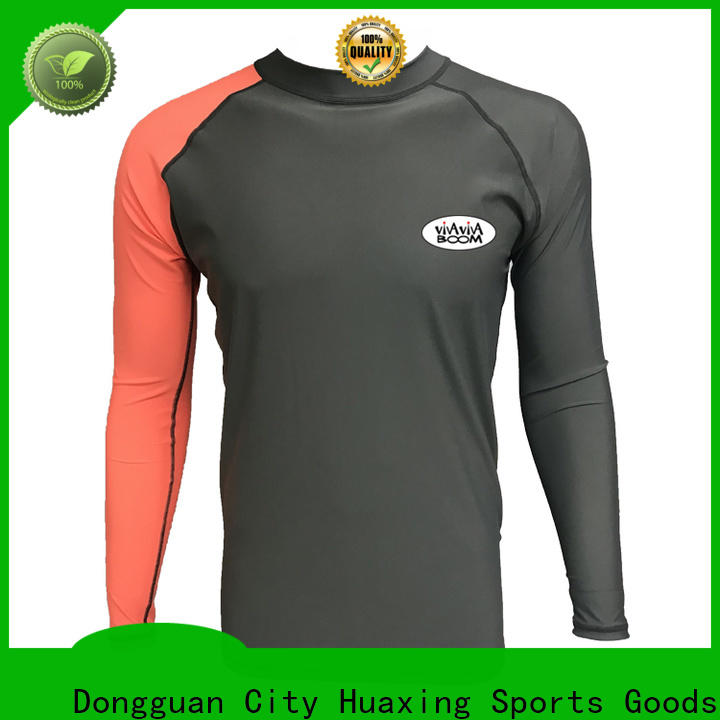 Huaxing sports girls rash guard from manufacturer for surfing