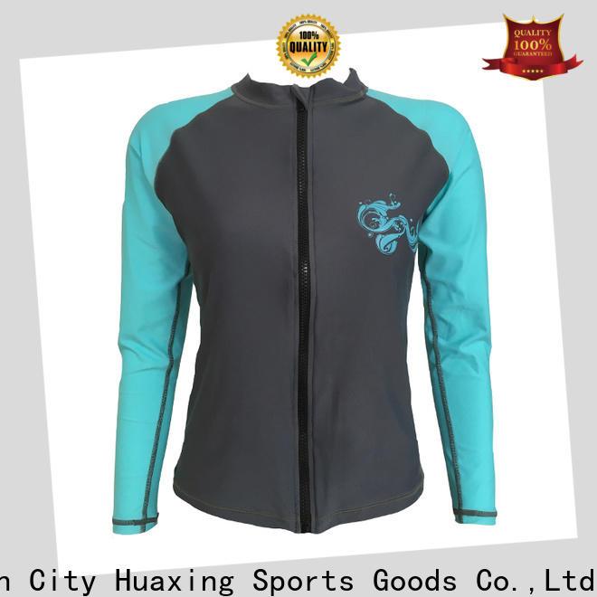 Huaxing fashion design toddler rash guard for bodysurfing