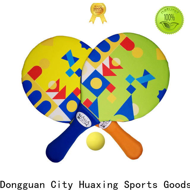 Huaxing quality beach rackets from china for beach game