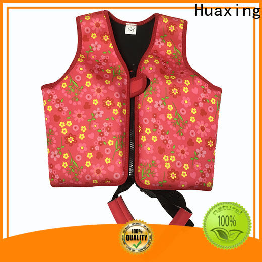 Huaxing neoprene swimming life jacket from manufacturer for swimming