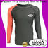 Huaxing spandex rash guard for girls from manufacturer for swimming