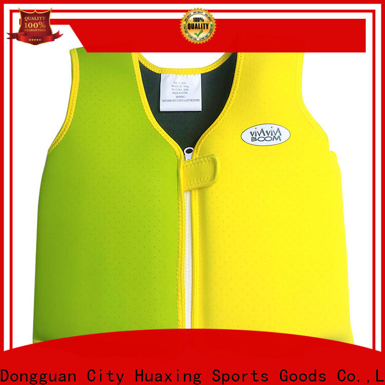 Huaxing quick dry kids swim vest bulk production for swimming