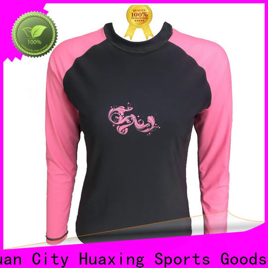 Huaxing personalized long sleeve rash guard factory price for bodyboarding