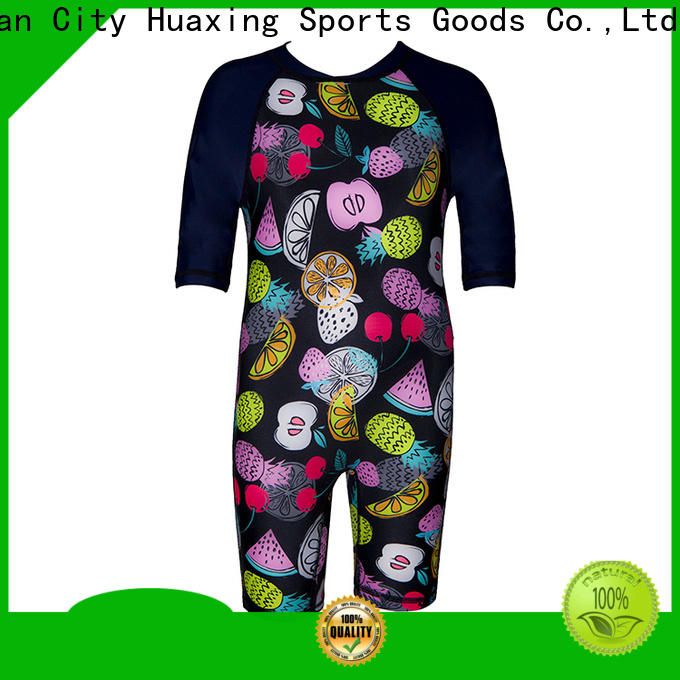 Huaxing fashion design rash guard for girls wholesale for surfing