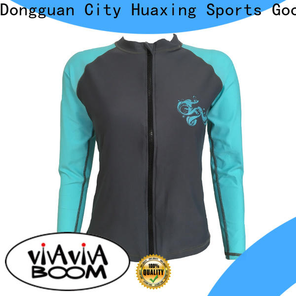 Huaxing personalized womens rash guard swimsuit from china for swimming