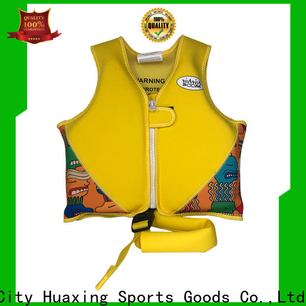 Huaxing neoprene best toddler swim vest vendor for swimming