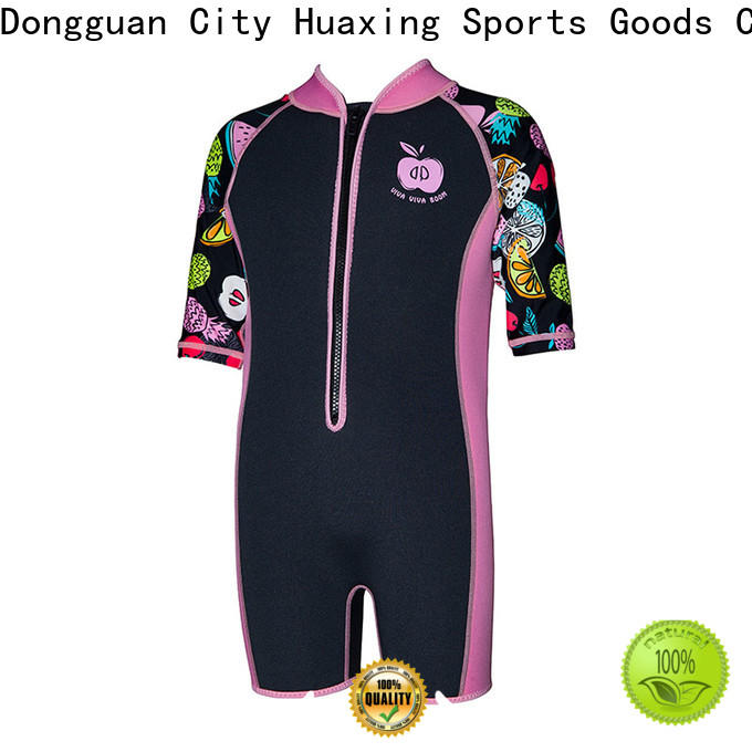 Huaxing colorful kids wetsuits manufacturer for surfing