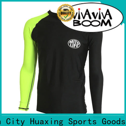 Huaxing comfortable bjj rash guard factory price for water survival training