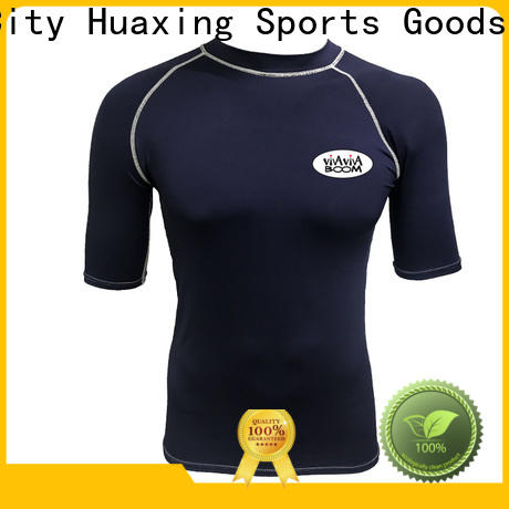 Huaxing nylon girls rash guard wholesale for kayaking