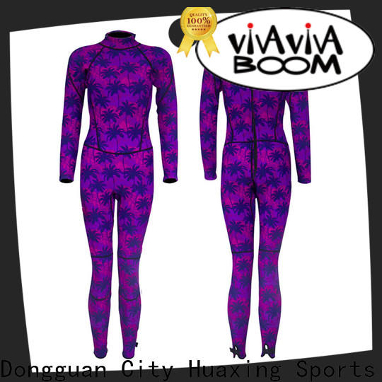 Huaxing backzip womens shorty wetsuit supplier for surfing