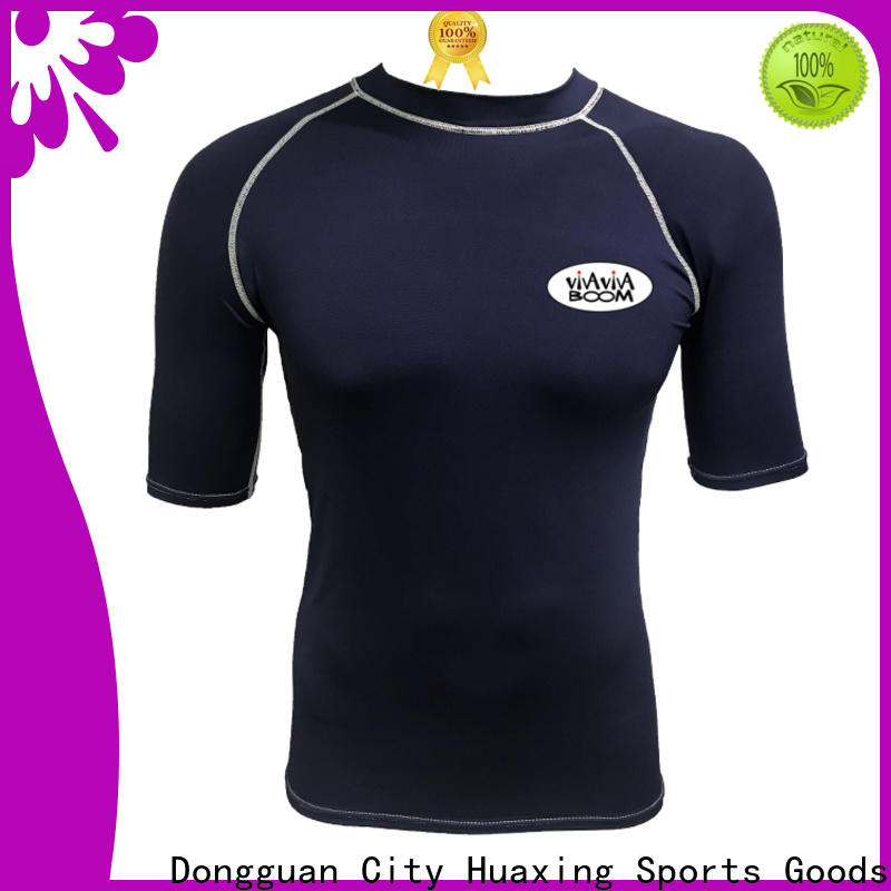 Huaxing fit men rash guard for swimming