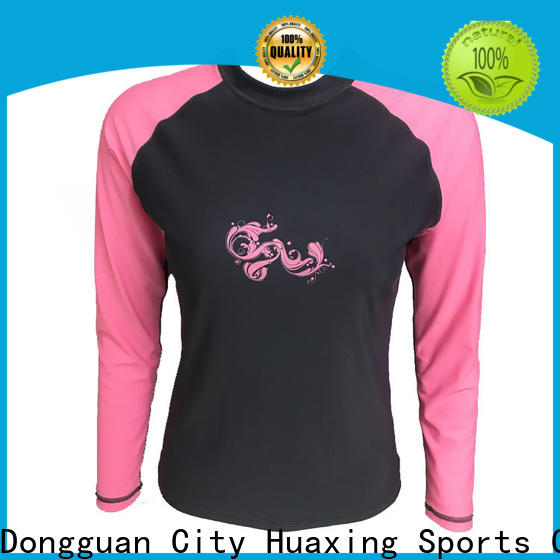 Huaxing high quality men rash guard producer for stand up paddle surfing