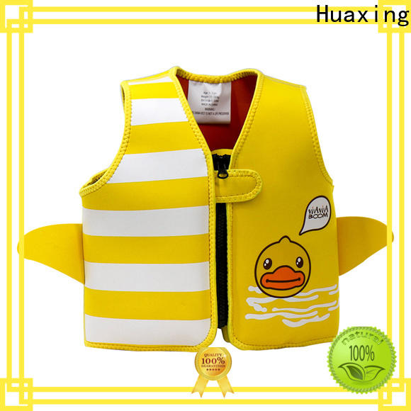 Huaxing print adult swim vest factory price for swimming