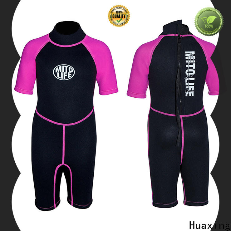 Huaxing colorful toddler wetsuit supplier for lake activities