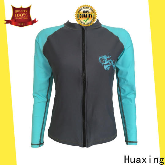 Huaxing colorful youth rash guards factory price for bodyboarding