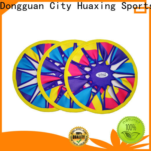 Huaxing colorful neoprene frisbee vendor for beach game