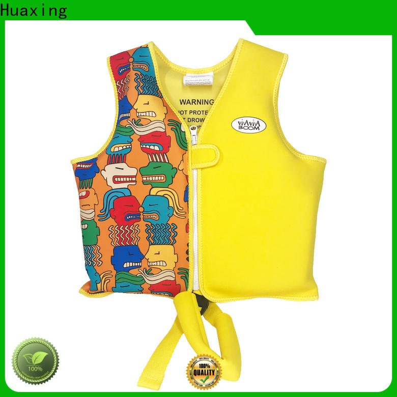 Huaxing digital kids swimming life vest producer for beach
