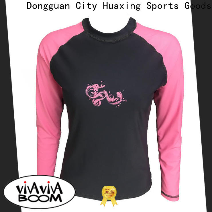 Huaxing fashion design adult rash guard producer for stand up paddle surfing