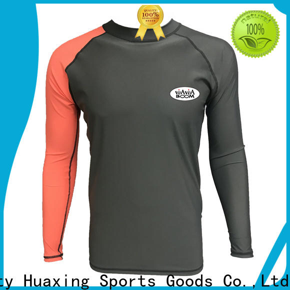 Huaxing own boys long sleeve rash guard for swimming
