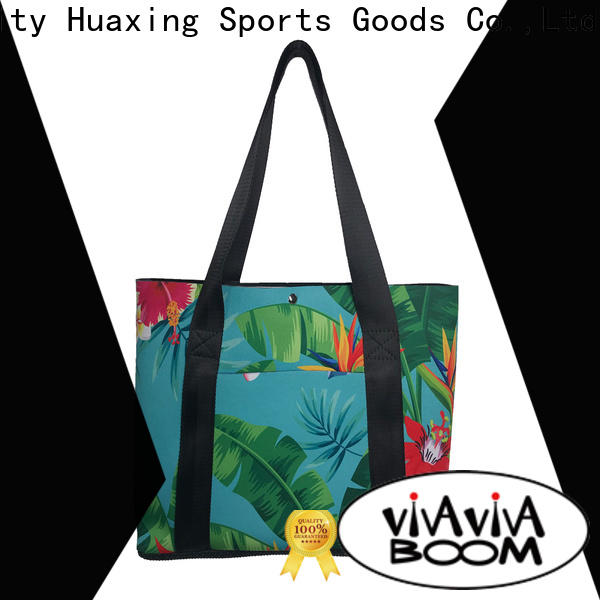 Huaxing flowers black neoprene bag bulk production for women