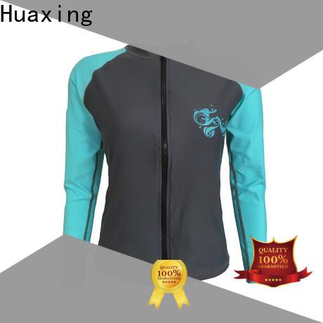 Huaxing nylon ladies rash guard for surfing