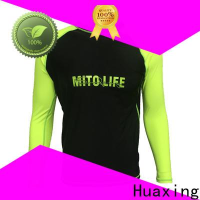 Huaxing fashion design womens rash guards for canoe polo