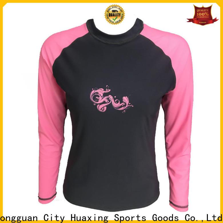 Huaxing colorful rash guard for bodysurfing