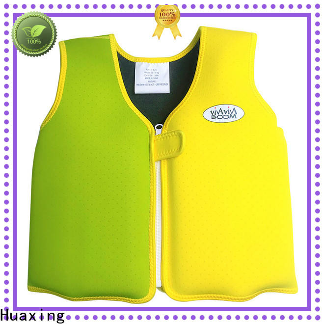Huaxing color swim vest vendor for kids