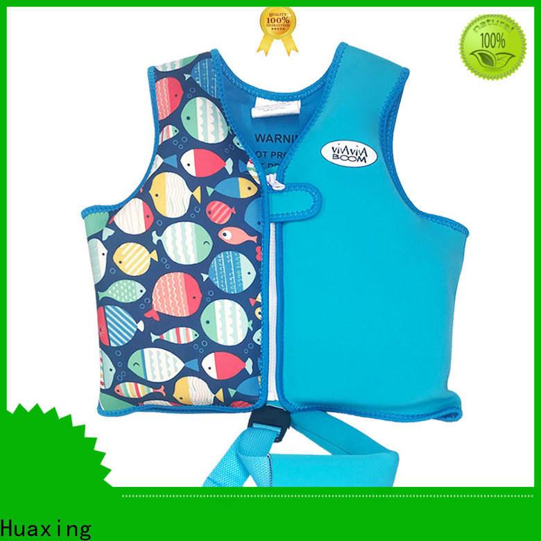 Huaxing safe best toddler swim vest bulk production for toddler