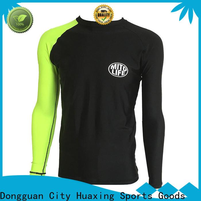 Huaxing fashion design white rash guard in china for wakeboarding