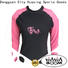 colorful long sleeve rash guard womens child for stand up paddle surfing