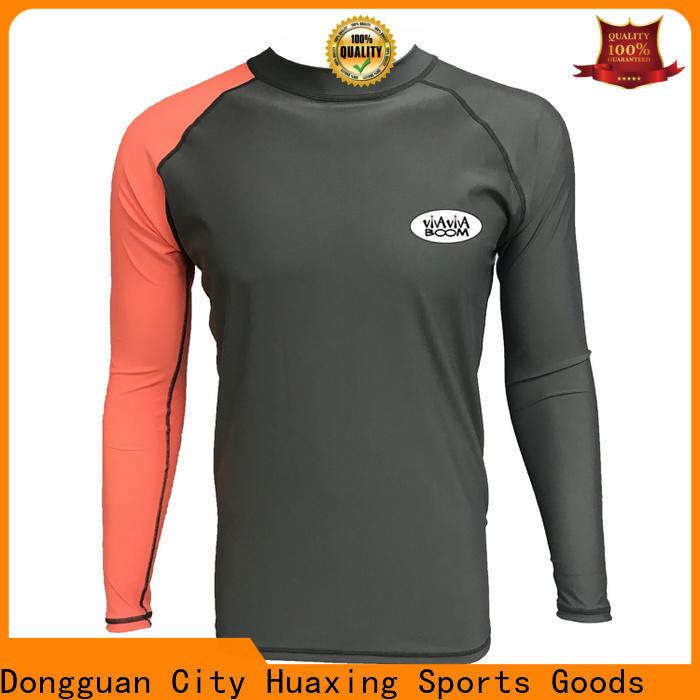 Huaxing upf bjj rash guard producer for snorkeling