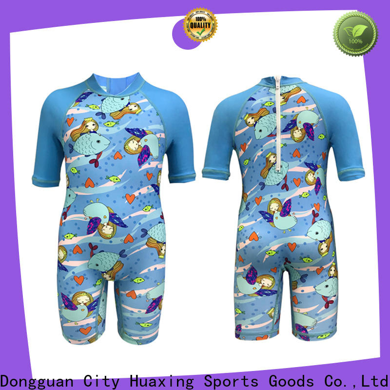 Huaxing spandex youth rash guards dropshipping for windsurfing
