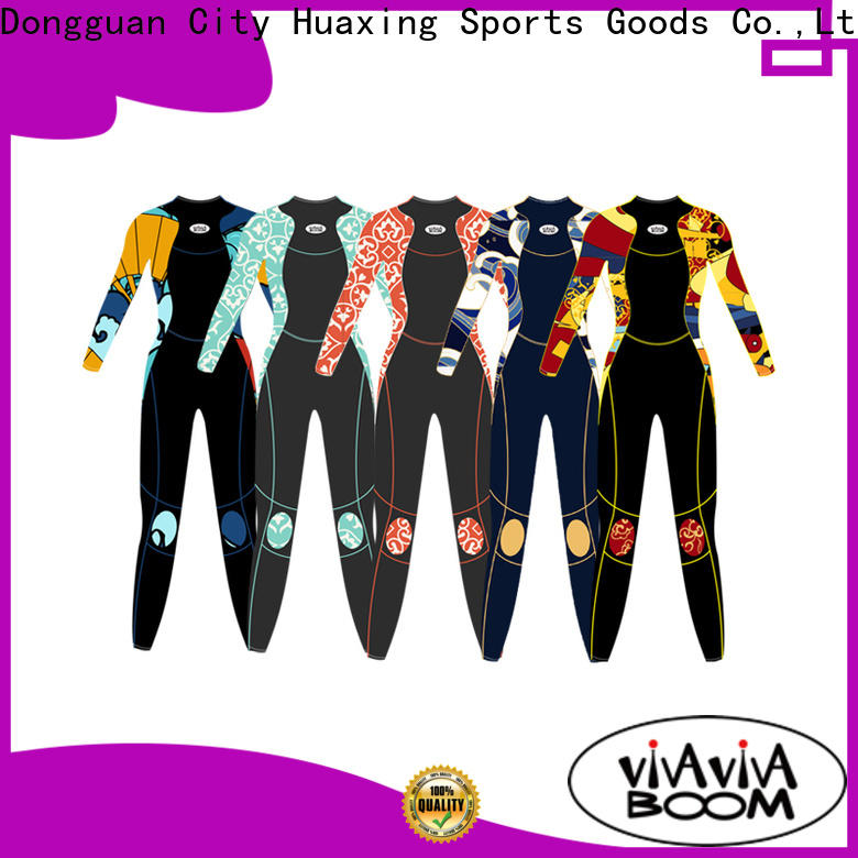 Huaxing stretch black wetsuit manufacturer for surfing