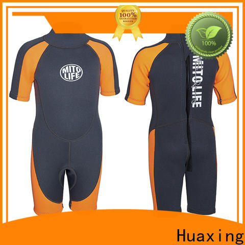 Huaxing backzip wetsuit for kids from china for diving