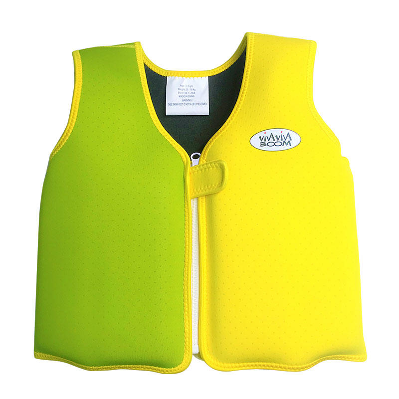 Factory directly supply swim vest for kids high quality neoprene kids swim vest VC001JS03