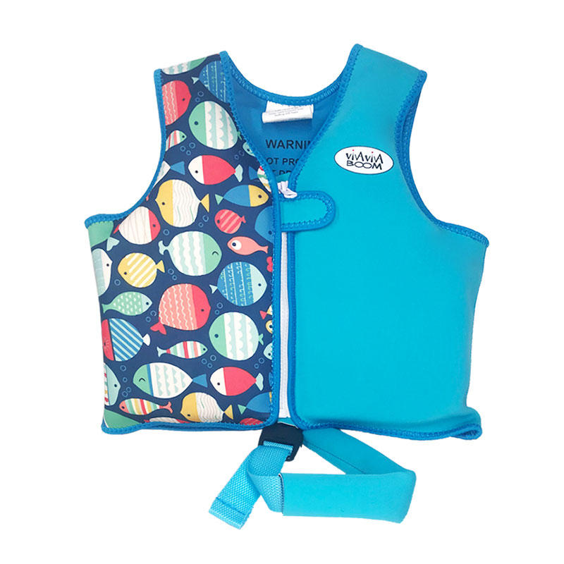 High quality fish print kids life vest neoprene custom logo kids life jacket vest VC001ZY09