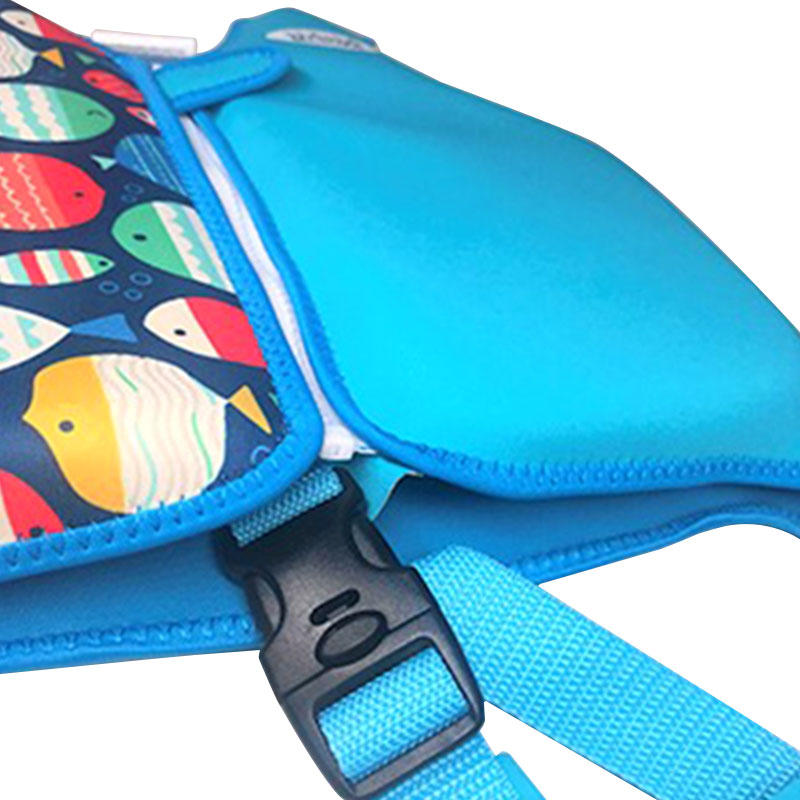 High quality fish print kids life vest neoprene custom logo kids life jacket vest VC001ZY09