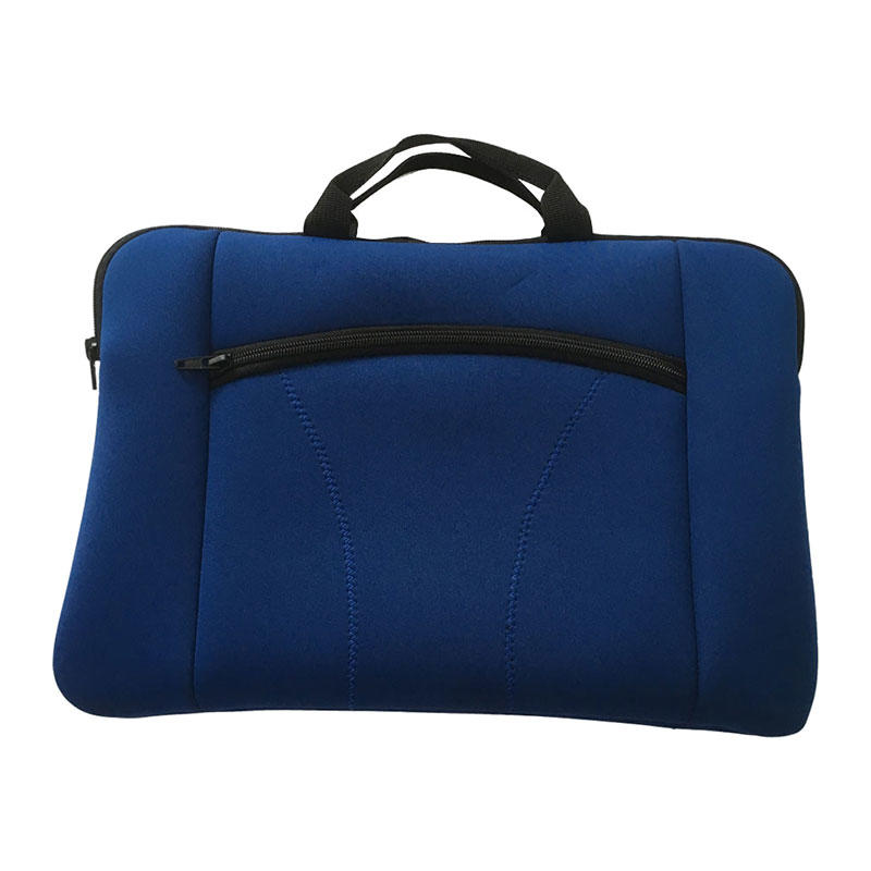 Blue Promotional Bags Neoprene Laptop Sleeve with Zipper Pocket