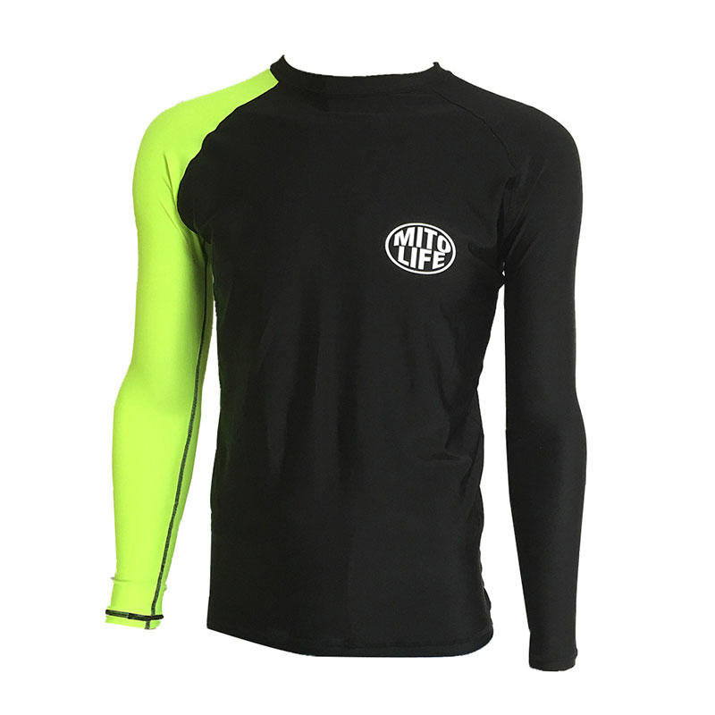 Men's UPF 50+ surfing long sleeve custom your own printed rash guard