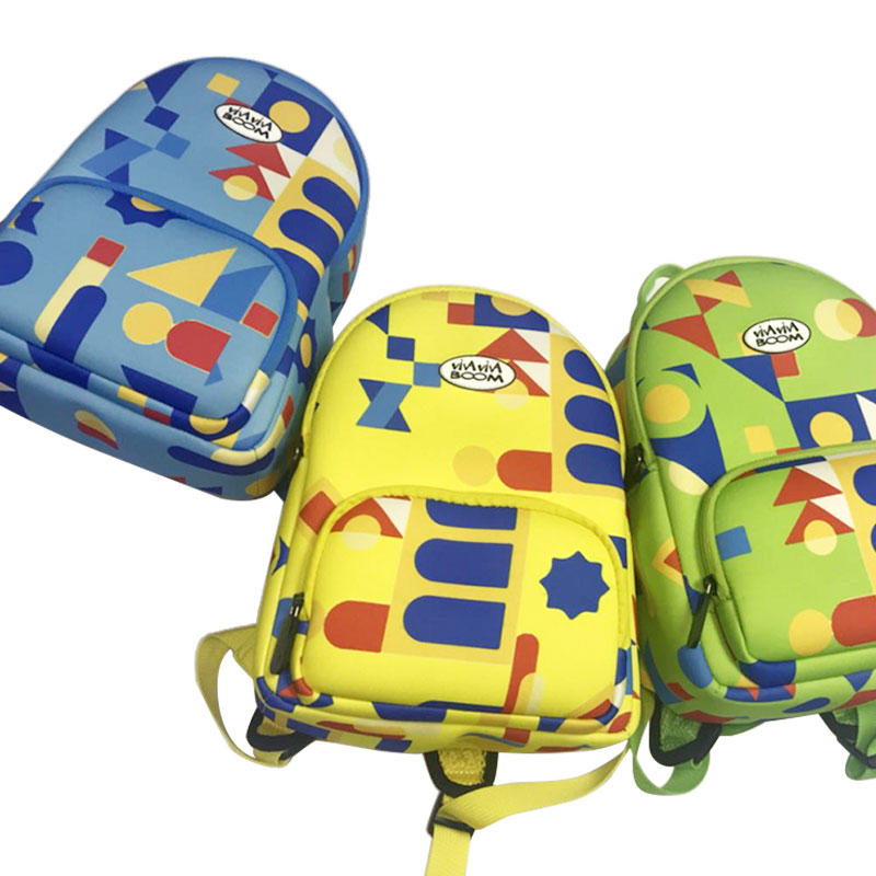 Newly designed neoprene backpack bag colorful kids neoprene backpack