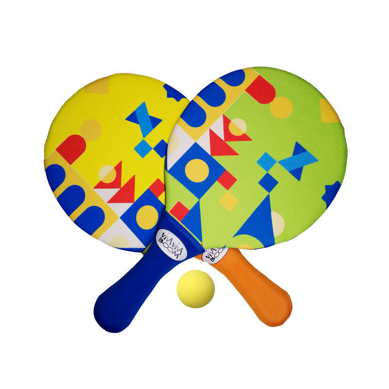 2019 Newly designed beach paddle with balls whosale neoprene toy