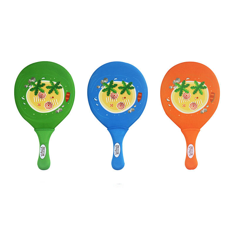 Low price with high quality beach toy set neoprene beach paddle with ball