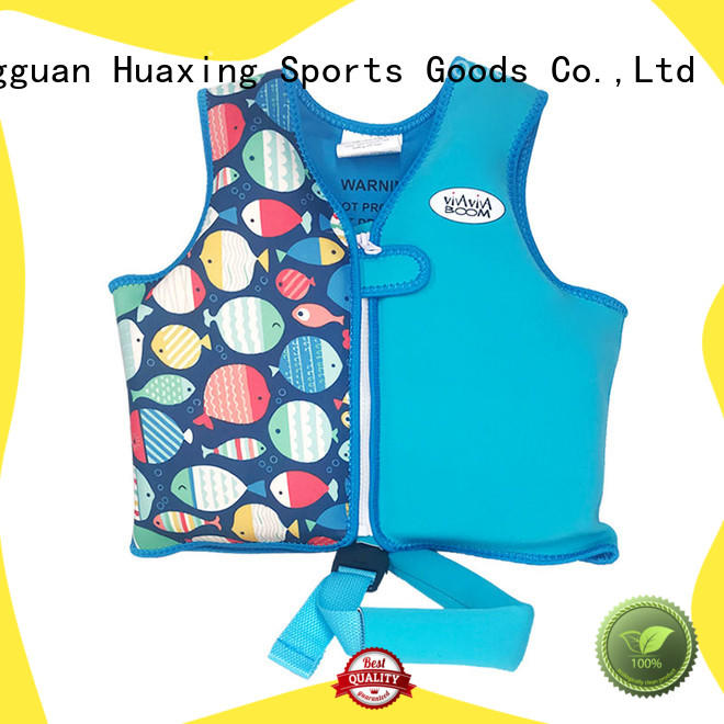 Huaxing colorful kids swim vest factory price for swimming