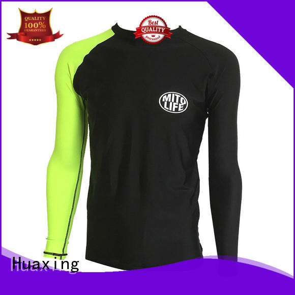 Huaxing fabric men rash guard for scuba diving