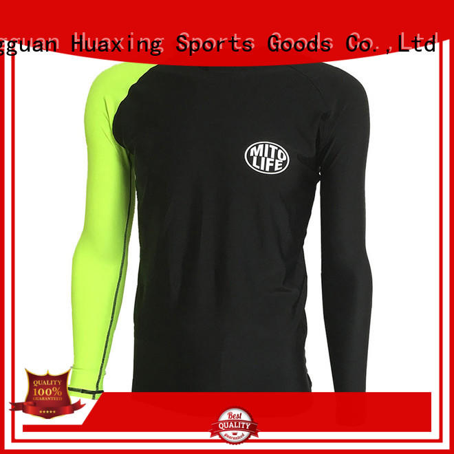 Huaxing colorful mens rash guard long sleeve from manufacturer for scuba diving
